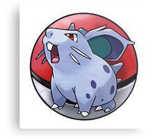 Nidoran (female) pokeball - pokemon Metal Print