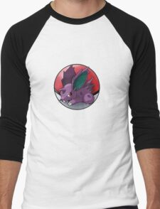 Nidoran (male) pokeball - pokemon Men's Baseball ¾ T-Shirt