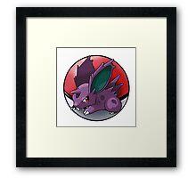 Nidoran (male) pokeball - pokemon Framed Print