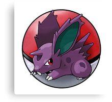Nidoran (male) pokeball - pokemon Canvas Print