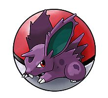 Nidoran (male) pokeball - pokemon Photographic Print
