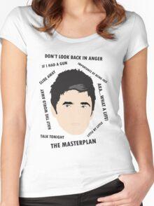Noel Gallagher Oasis High Flying Birds Fan Art Unofficial  Women's Fitted Scoop T-Shirt