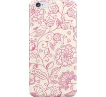 floral pattern in doodle style  iPhone Case/Skin