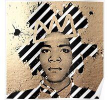 Gold Basquiat Poster