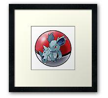 Nidorina pokeball - pokemon Framed Print