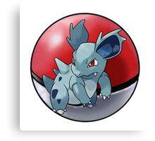 Nidorina pokeball - pokemon Canvas Print