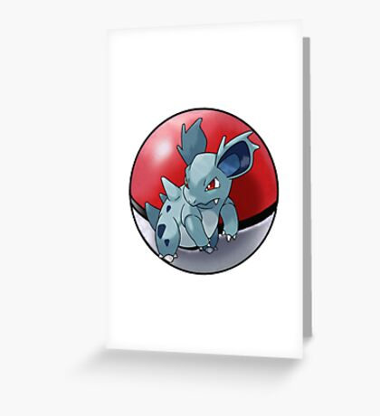 Nidorina pokeball - pokemon Greeting Card