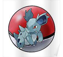 Nidorina pokeball - pokemon Poster