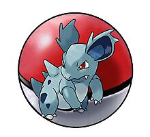 Nidorina pokeball - pokemon Photographic Print