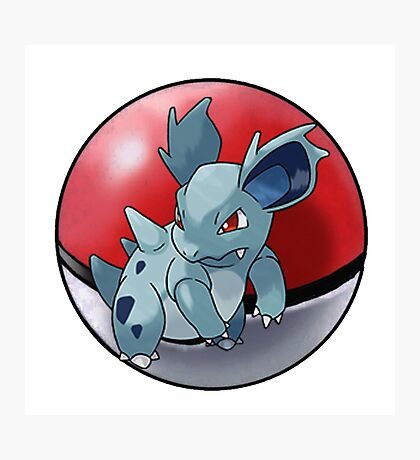 Nidorina pokeball - pokemon Photographic Print