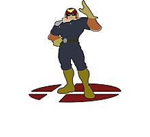 Captain Falcon - Super Smash Bros Melee Photographic Print
