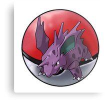 Nidorino pokeball - pokemon Metal Print