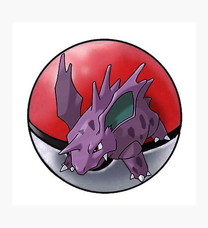 Nidorino pokeball - pokemon Photographic Print