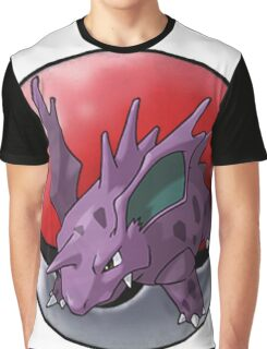Nidorino pokeball - pokemon Graphic T-Shirt