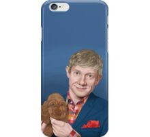 Martin Freeman with Puppy iPhone Case/Skin