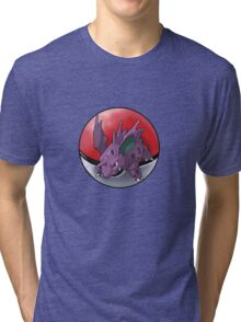 Nidorino pokeball - pokemon Tri-blend T-Shirt