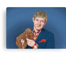 Martin Freeman with Puppy Canvas Print