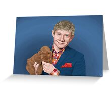 Martin Freeman with Puppy Greeting Card