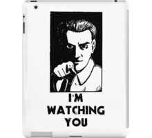"""I'm Watching You"" Quote, Creepy Man iPad Case/Skin"