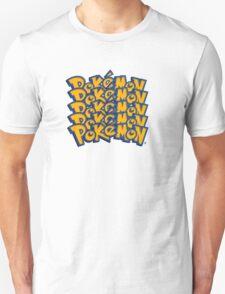 Pokemon logo Font T-Shirt