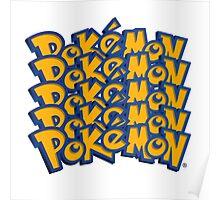 Pokemon logo Font Poster