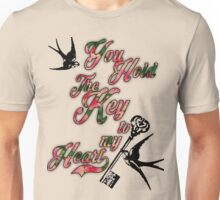 Key to my heart Dictionary Art Unisex T-Shirt