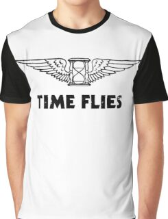 Time Flies (Flying Hourglass) Graphic T-Shirt