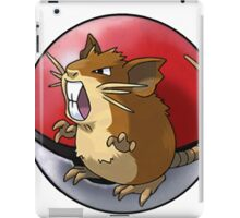 Raticate pokeball - pokemon iPad Case/Skin