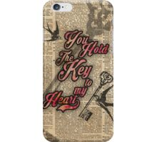 Key to my heart Dictionary Art iPhone Case/Skin