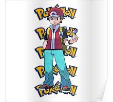 Red show pokeball - pokemon Poster