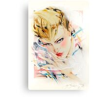 Eighties Fashion Illustration by Anne Zielinski-Old Canvas Print