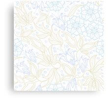 floral pattern in doodle style Canvas Print