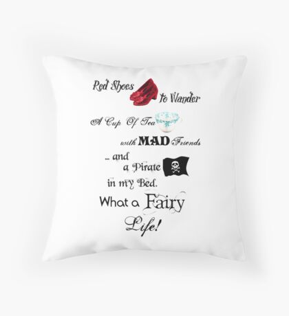Fairy Life Throw Pillow