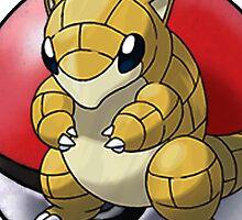 Sandshrew pokeball - pokemon by pokofu13