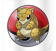 Sandshrew pokeball - pokemon Poster