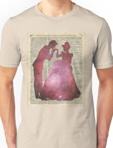 Prince and Princess Valentine Fairytale Space Stencil Unisex T-Shirt