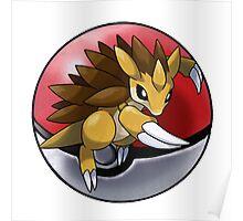 Sandslash pokeball - pokemon Poster