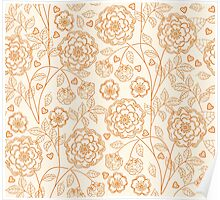 floral pattern in doodle style Poster