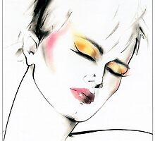 Eighties Fashion Illustration by Anne Zielinski-Old by Mary Evans Picture Library