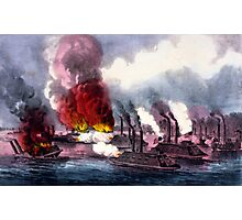 Brilliant naval victory on the Mississippi River - 1862 - Currier & Ives Photographic Print