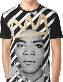 Silver Basquiat Graphic T-Shirt
