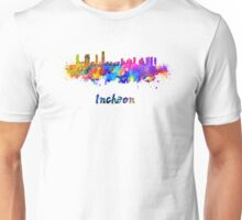 Incheon skyline in watercolor Unisex T-Shirt