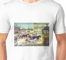 Bring up your horses - 1886 - Currier & Ives Unisex T-Shirt