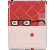 Room with red wallpaper iPad Case/Skin