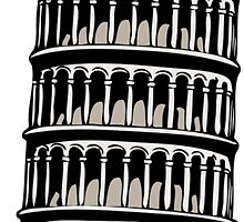 Leaning Tower of Pisa by tshirtdesign