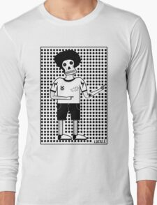 'Skull Man' graphic design by LUCILLE Long Sleeve T-Shirt
