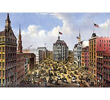 Broadway, New York From the western union telegraph building looking north - 1875 - Currier & Ives Photographic Print