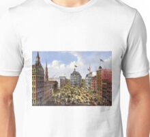 Broadway, New York From the western union telegraph building looking north - 1875 - Currier & Ives Unisex T-Shirt