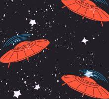 Hand drawn pattern UFO Sticker