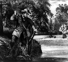 Brook trout fishing - 1872 - Currier & Ives by CrankyOldDude